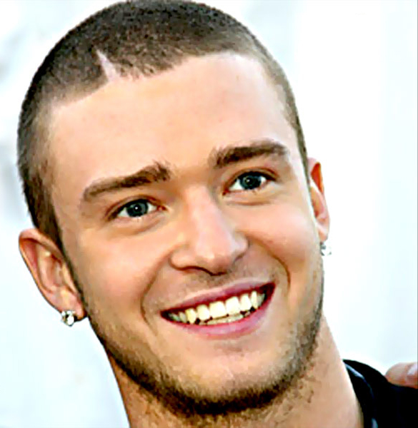 Do not forget, pay attention to Justin Timberlake's hairstyles.